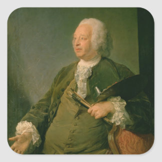 Portrait of Jean-Baptiste Oudry (1686-1755) c.1753 Square Sticker