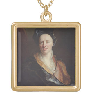Portrait of Jean Baptiste Rousseau (1671-1741) 171 Gold Plated Necklace