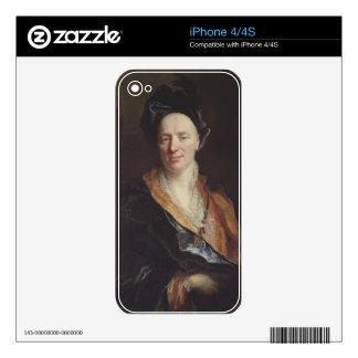 Portrait of Jean Baptiste Rousseau (1671-1741) 171 Skin For iPhone 4