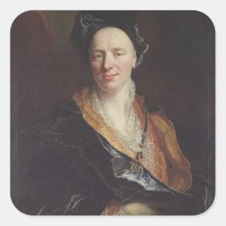 Portrait of Jean Baptiste Rousseau (1671-1741) 171 Square Sticker