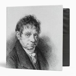 Portrait of Jean Baptiste Say Vinyl Binder
