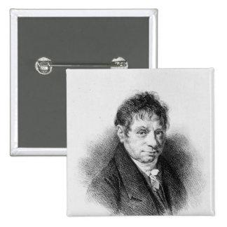 Portrait of Jean Baptiste Say 2 Inch Square Button