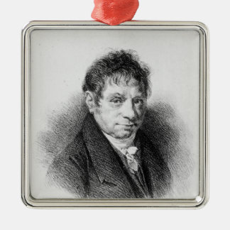 Portrait of Jean Baptiste Say Metal Ornament