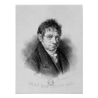Portrait of Jean Baptiste Say Poster