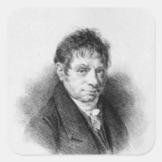 Portrait of Jean Baptiste Say Square Sticker