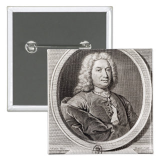 Portrait of Jean Bernoulli  engraved by Pin