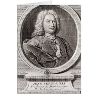 Portrait of Jean Bernoulli  engraved by Cards