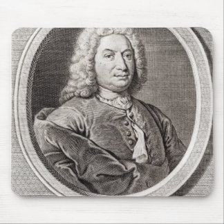 Portrait of Jean Bernoulli  engraved by Mousepad
