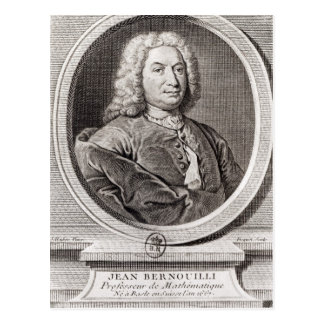 Portrait of Jean Bernoulli  engraved by Post Cards