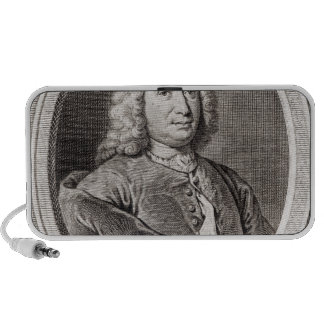 Portrait of Jean Bernoulli  engraved by iPhone Speakers