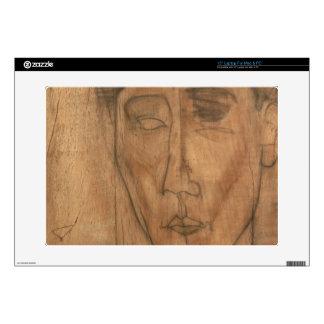 """Portrait of Jean Cocteau (1889-1963) 1917 (pencil 15"""" Laptop Decals"""