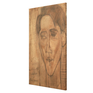 Portrait of Jean Cocteau (1889-1963) 1917 (pencil Canvas Print
