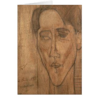 Portrait of Jean Cocteau (1889-1963) 1917 (pencil Card