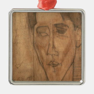 Portrait of Jean Cocteau (1889-1963) 1917 (pencil Metal Ornament