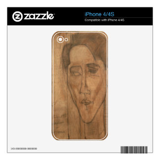 Portrait of Jean Cocteau (1889-1963) 1917 (pencil Decals For The iPhone 4S