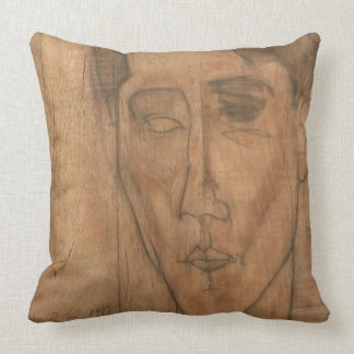 Portrait of Jean Cocteau (1889-1963) 1917 (pencil Throw Pillow