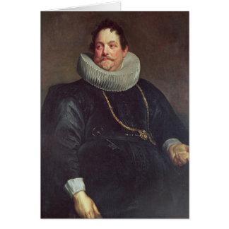 Portrait of Jean de Montfort Greeting Cards