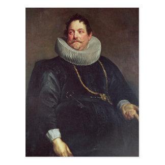 Portrait of Jean de Montfort Post Card