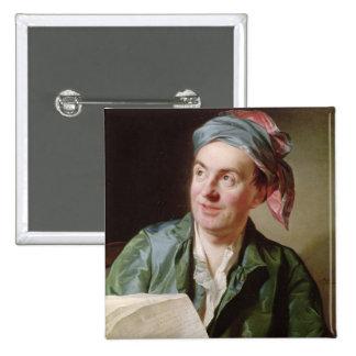 Portrait of Jean-Francois Marmontel  1767 2 Inch Square Button