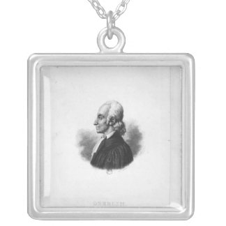 Portrait of Jean Frederic Oberlin Silver Plated Necklace
