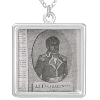 Portrait of Jean-Jacques Dessalines Silver Plated Necklace