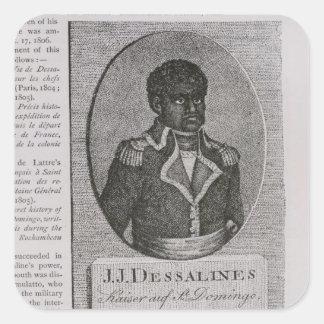 Portrait of Jean-Jacques Dessalines Square Sticker