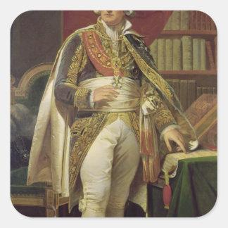 Portrait of Jean-Jacques-Regis de Cambaceres Square Sticker