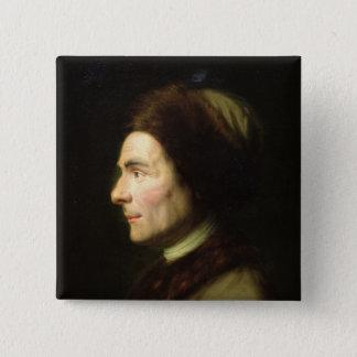 Portrait of Jean-Jacques Rousseau Button