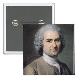 Portrait of Jean Jacques Rousseau 2 Inch Square Button