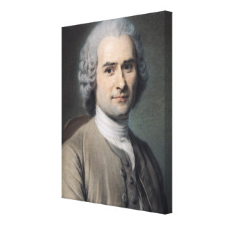 Portrait of Jean Jacques Rousseau Gallery Wrapped Canvas