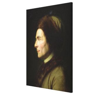 Portrait of Jean-Jacques Rousseau Canvas Print