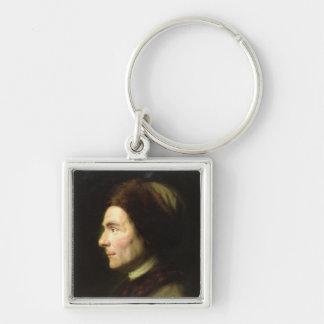 Portrait of Jean-Jacques Rousseau Keychain