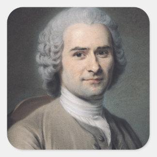 Portrait of Jean Jacques Rousseau Stickers