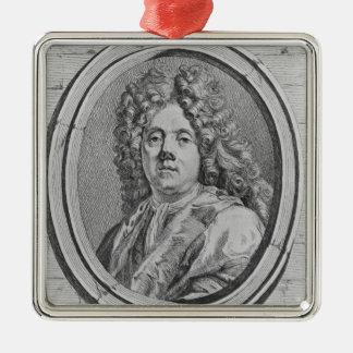 Portrait of Jean Jouvenet Metal Ornament