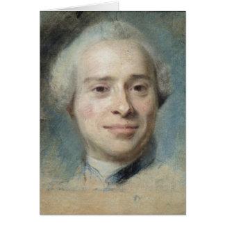 Portrait of Jean Le Rond d'Alembert  1753 Cards