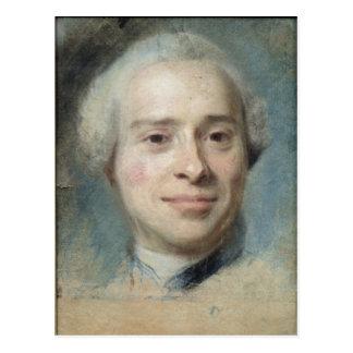 Portrait of Jean Le Rond d'Alembert  1753 Postcard