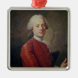 Portrait of Jean le Rond d'Alembert Metal Ornament