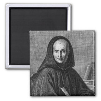 Portrait of Jean Mabillon  engraved by Alexis 2 Inch Square Magnet