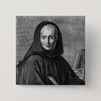 Portrait of Jean Mabillon  engraved by Alexis Pinback Button