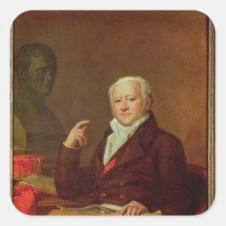 Portrait of Jean Nicolas Corvisart des Marets Square Sticker