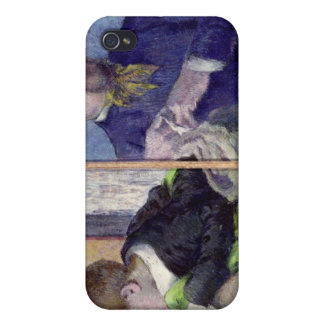 Portrait of Jean Paul Aube  and his son iPhone 4 Cases