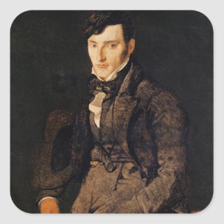 Portrait of Jean-Pierre-Francois Gilibert Square Sticker