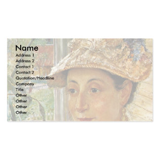 Portrait Of Jeanette Rubenson, By Josephson Ernst Double-Sided Standard Business Cards (Pack Of 100)