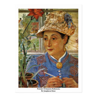 Portrait Of Jeanette Rubenson, By Josephson Ernst Post Cards