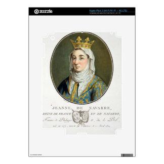 Portrait of Jeanne de Navarre (1271-1304), 1788 (c iPad 3 Skin