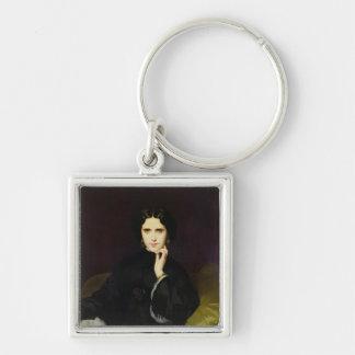 Portrait of Jeanne de Tourbay  1862 Keychain