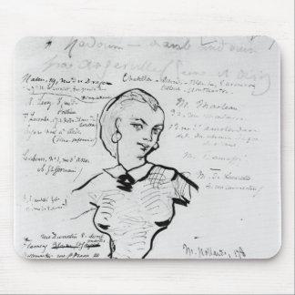 Portrait of Jeanne Duval Mouse Pad