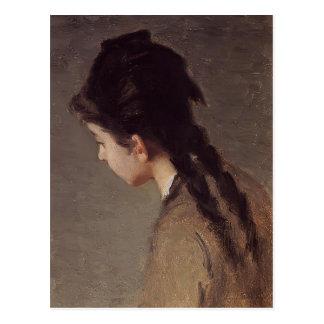 Portrait of Jeanne Gonzales by Eva Gonzales Postcard