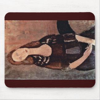 Portrait Of Jeanne Hébuterne By Modigliani Amedeo Mousepads