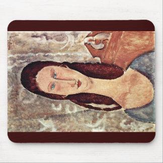 Portrait Of Jeanne Hébuterne By Modigliani Amedeo Mouse Pads